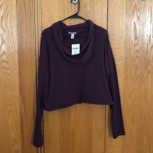 Forever 21 cropped cowl neck sweatshirt